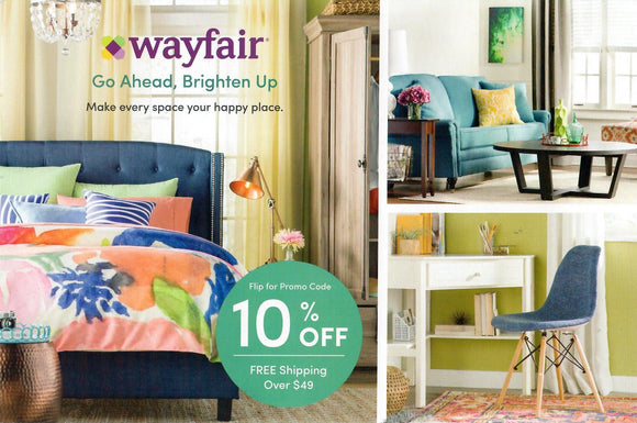 Wayfair 10% off−Instant Delivery