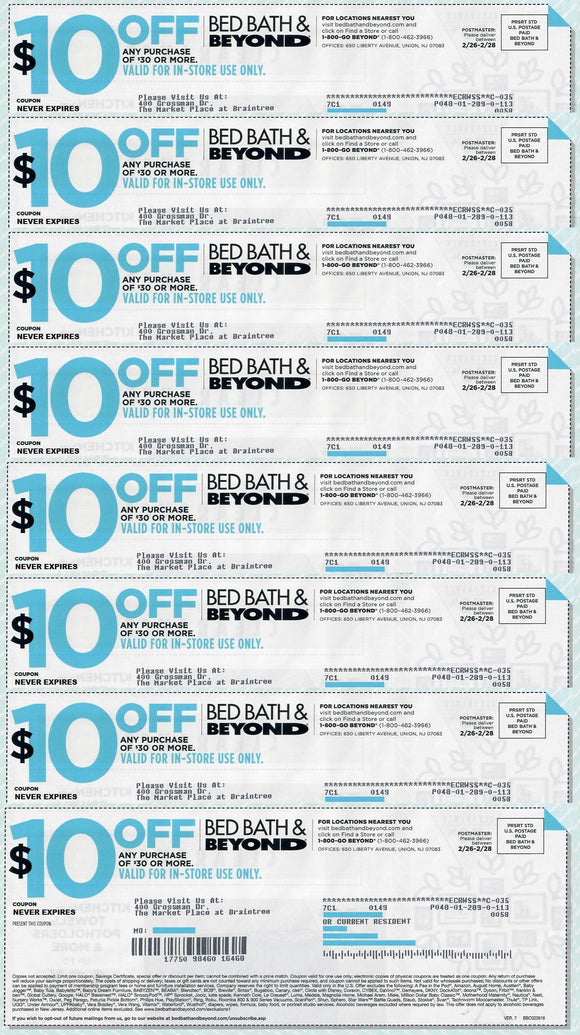 photo relating to Big 5 $10 Off $30 Printable referred to as Mattress Bathtub and Further than $10 off Any Acquire of $30Sets of 5, 7 or 10