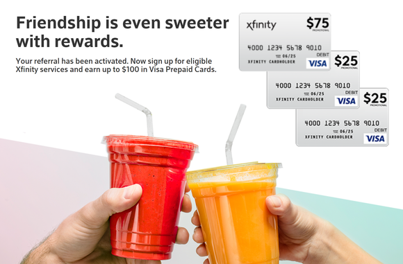 Xfinity Mobile–$125 Prepaid Visa Card for New Accounts Plus $50 Referrals!