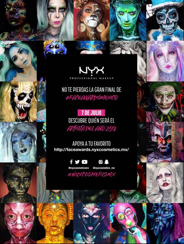 FACE AWARDS 2018 BY NYX PROFESSIONAL MAKEUP