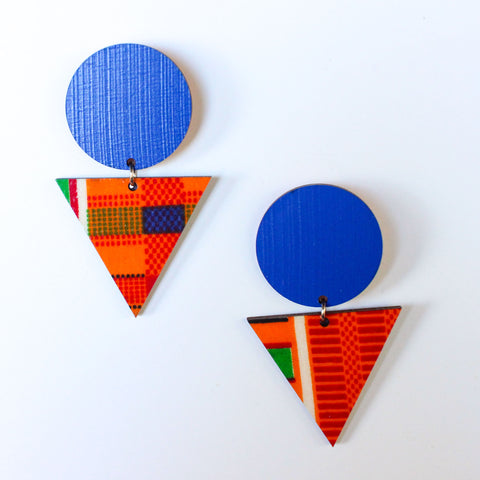 Freedom African Fabric Earrings