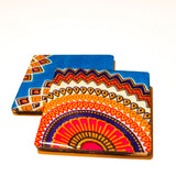 Freedom Flower - African Fabric Coaster Set