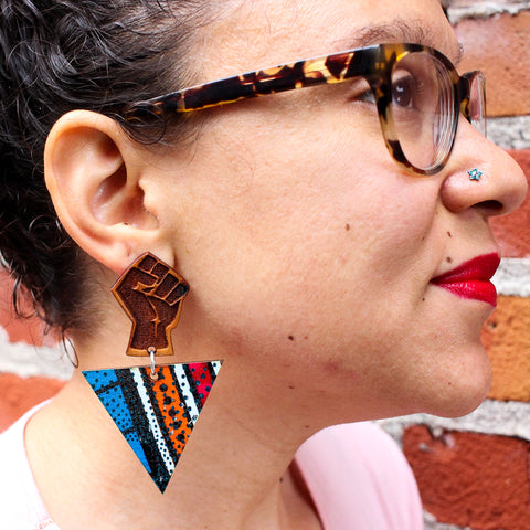 Freedom Power Fist Earrings