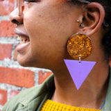 Effortless Ambition - Big Glitter Earrings