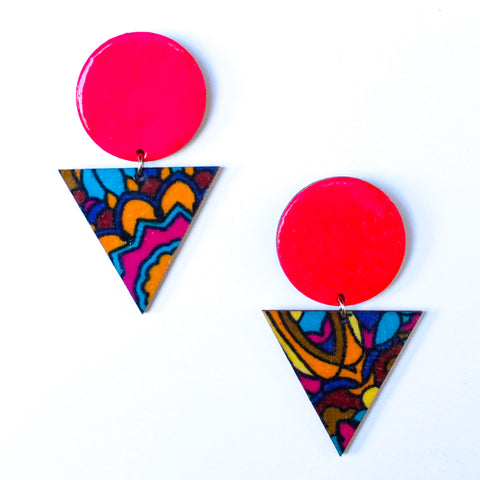 Self Love African Fabric Earrings