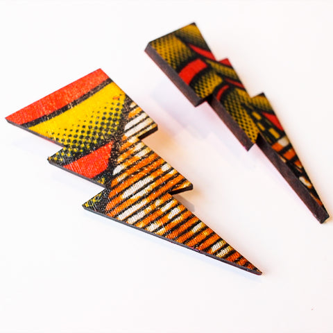 Lightning Bolts - Kente Cloth