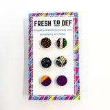 Mini Kente Cloth Wood Stud Earrings