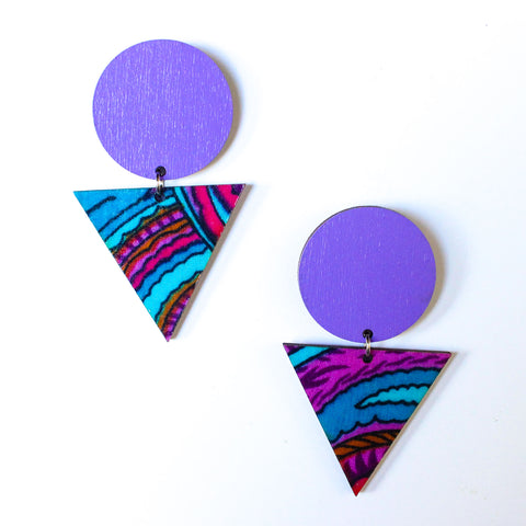 Abundance African Fabric Earrings