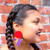 Fearless African Fabric Earrings