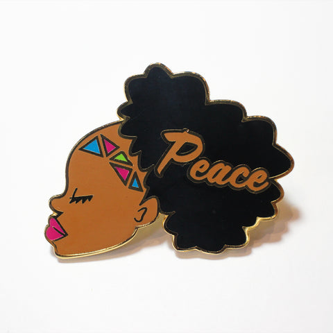 Peace - Black Girl Magic Pin