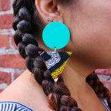 Joy - African Fabric Earrings