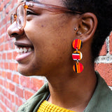 Freedom - Dangle Circle Earrings