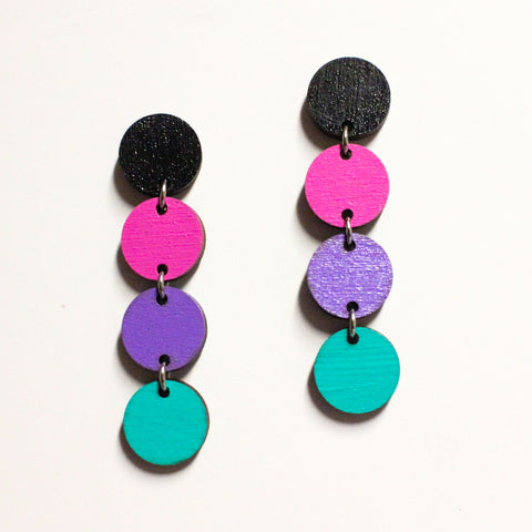 Aura - Dangle Circle Earrings