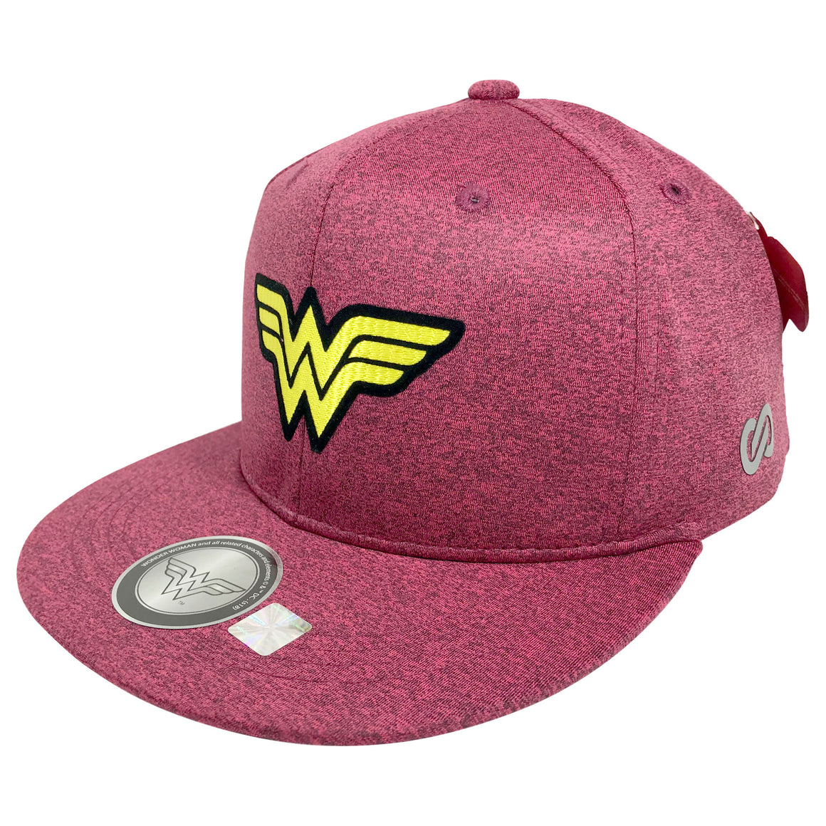 Gorra Wonder Woman Logo HEATER GRAY/PINK - SNAPBACK MX