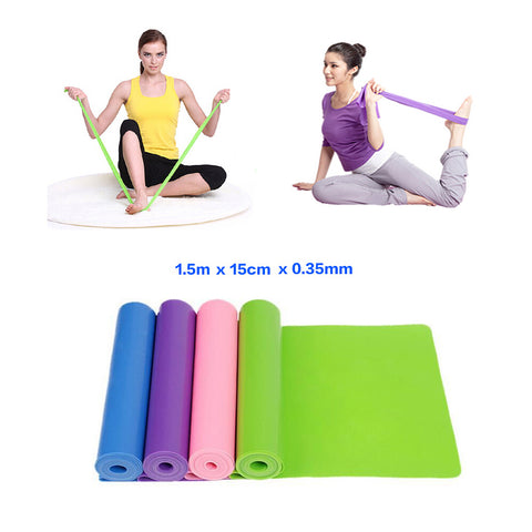 1.5m Yoga Pilates Stretch Resistance Band Exercise Fitness Band Training Elastic Exercise Fitness 150cm High Quality