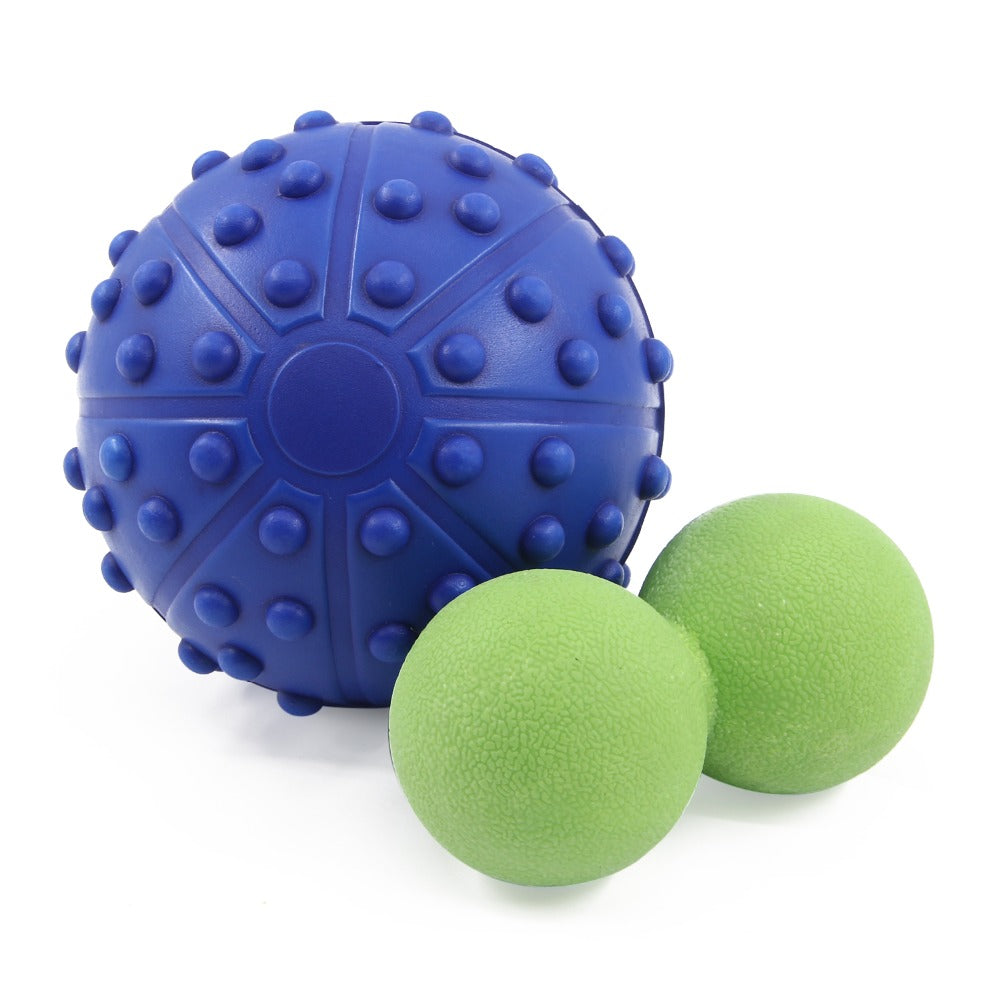 13cm Deep Tissue EVA Lacrosse Ball+13*6cm TPR Peanut Massage Ball Pain Stress Relief Therapy for Muscle Knot Fitness Balls