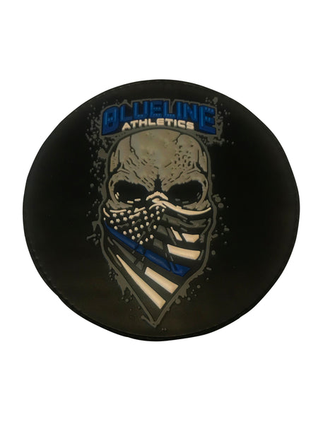 Blueline Bandanna Skully Patch