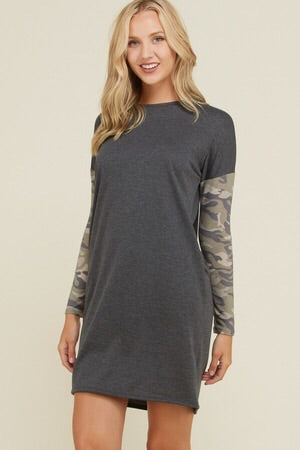 Jamie Dress - Fall Camo 341