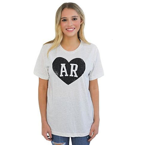 Charlie Southern Initial Heart Tee - McClain & Co.