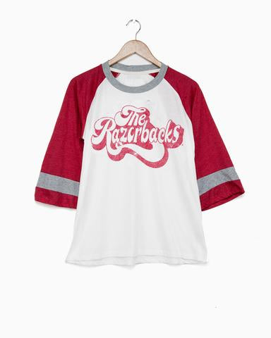 The Razorbacks That's 70's Red Bell Sleeve Tee