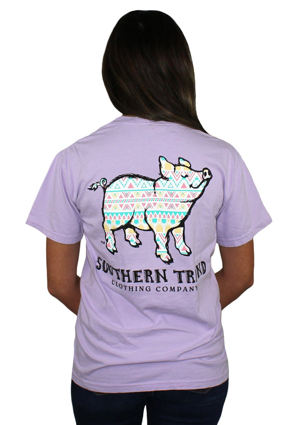 Southern Trend Aztec Pig Tee