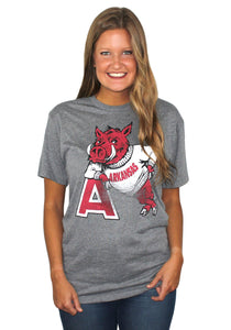 "Hog Leaning on ""A"" Triblend Tee"