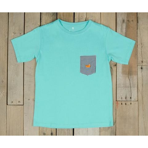 Youth Stewart Gingham Pocket Tee by Southern Marsh - McClain & Co.