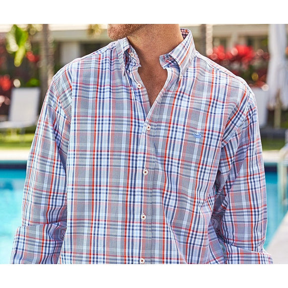 Tillman Windowpane Men's Dress Shirt by Southern Marsh - McClain & Co.