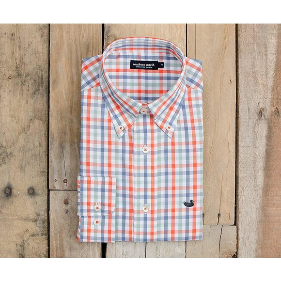 Reynolds Gingham Men's Dress Shirt by Southern Marsh - McClain & Co.