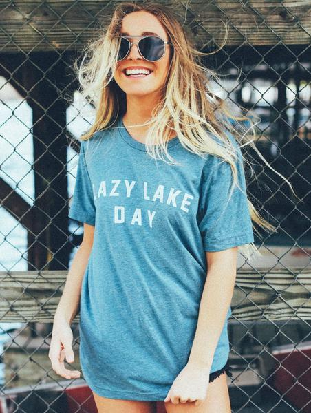 Lazy Lake Day Tee