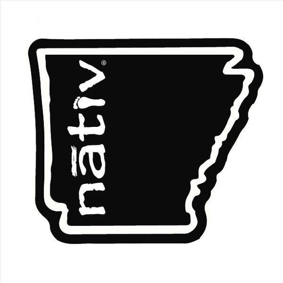 Nativ Arkansas State Sticker