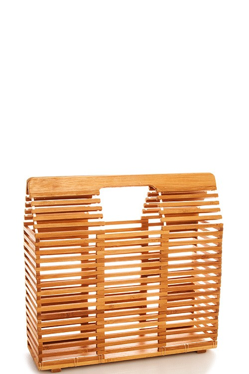 Rectangle Bamboo Handbag