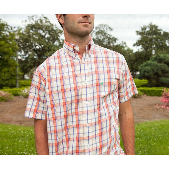 Plaid Short Sleeve Dress Shirt by Southern Marsh - McClain & Co.