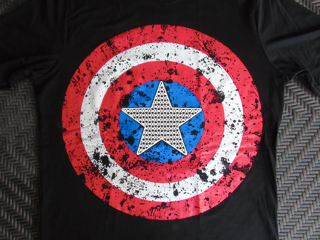Captain America Shield t-shirt SugarCane1977