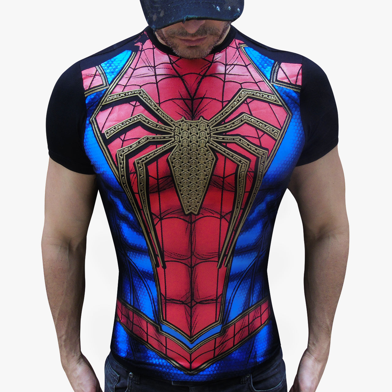 Spiderman Gold t-shirt SugarCane1977