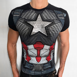 Captain America Silver Nomad t-shirt SugarCane1977