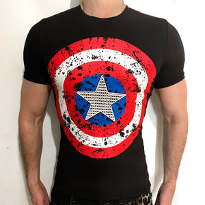 Captain America casual t-shirt SugarCane1977
