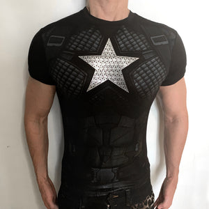 Captain America Dark Silver Nomad t-shirt SugarCane1977