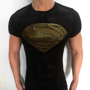 Superman Ancient Gold t-shirt SugarCane1977