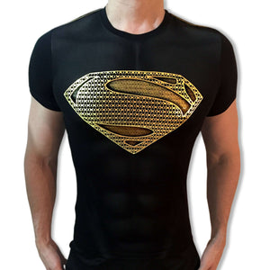 Superman Gold Shield tshirt shirt t-shirt tee - SugarCane1977
