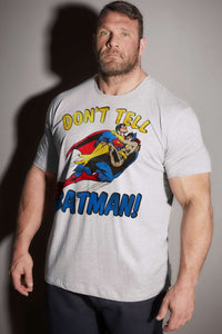 Superman Don't Tell Batman! tshirt shirt t-shirt tee - SugarCane1977