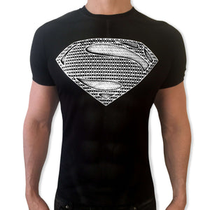 Superman Silver Shield tshirt shirt t-shirt tee - SugarCane1977