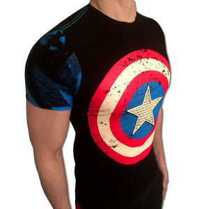 Captain America Embossed Shield t-shirt SugarCane1977 tshirt shirt t-shirt tee - SugarCane1977