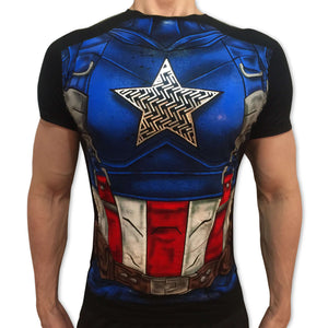 Captain America Raised tshirt shirt t-shirt tee - SugarCane1977