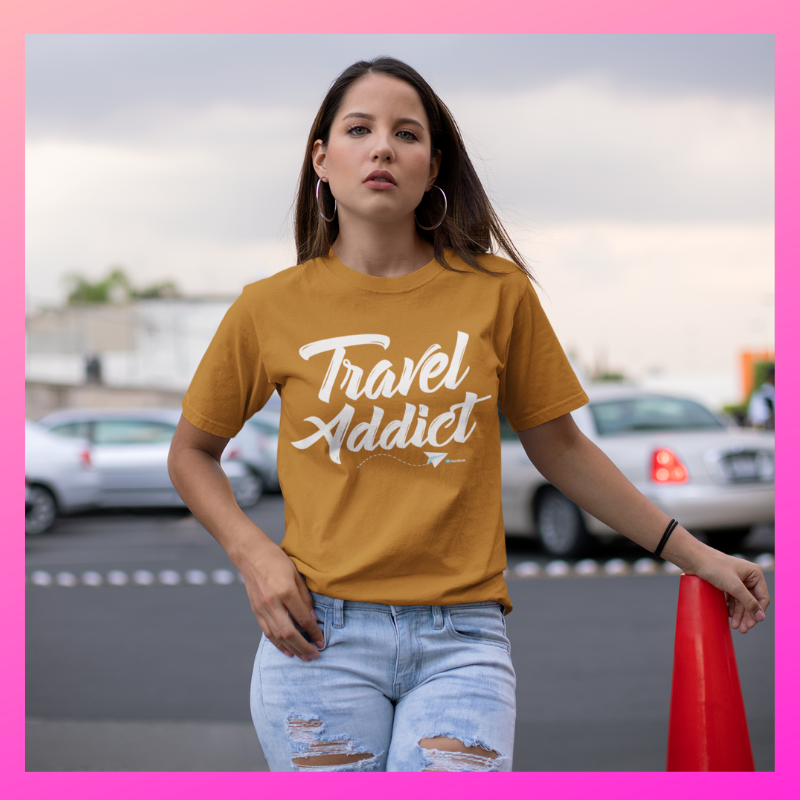 Travel Addict Unisex Gildan Tshirt