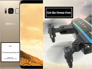 Buy The Best Phone Of  The Year : Samsung Galaxy S8 and Get An Amazing Drone Quadcopter f