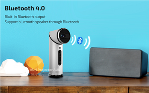Amazing Portable Projector, 90 Degree Rotatable Lens Projector. Built-in Android 5.1, WIFI, Bluetooth, Infinity Display. 1080P