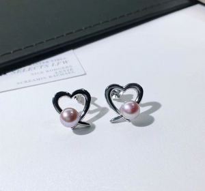 2018 Latest design simple heart shape gold earring 925 silver for party