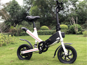 YW02 Folding ELECTRIC Bike with Aluminium Frame Disc Brake and LITHIUM Battery Powered