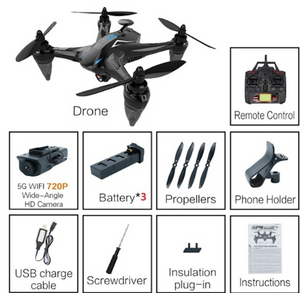 Drone GW198 5G WiFi FPV Brushless Motor RC Quadrocopter GPS Dron Hover Drones Follow Me Drone with Camera